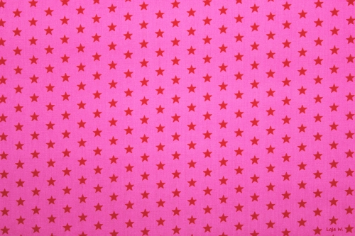 Baumwolle Sterne pink/rot (10 cm)