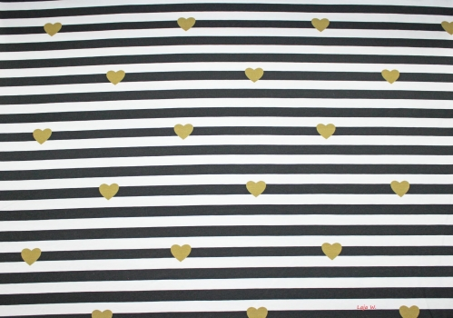 "Jersey ""Lovely Stripes"" anthrazit (10 cm)"