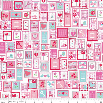 Stoff Lovey Stamps (10 cm)