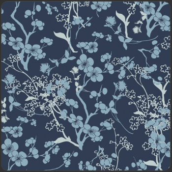 Voile Branch Silhouette Blue (10 cm)