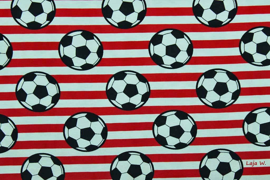 Jersey Fussball Rot Weiss 10 Cm