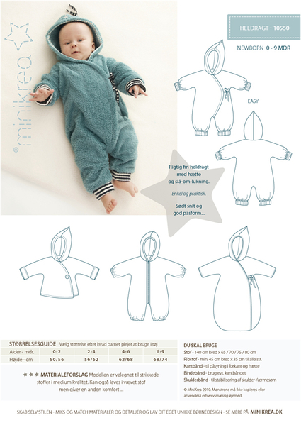 LajaW - Babyschnittmuster Overall 10550