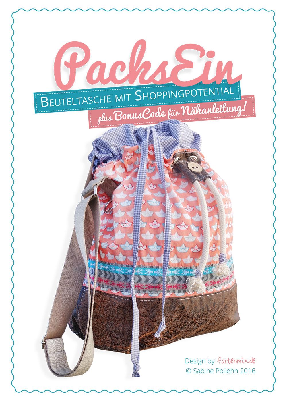 LajaW - Schnittmuster Packs Ein! Einkaufstasche